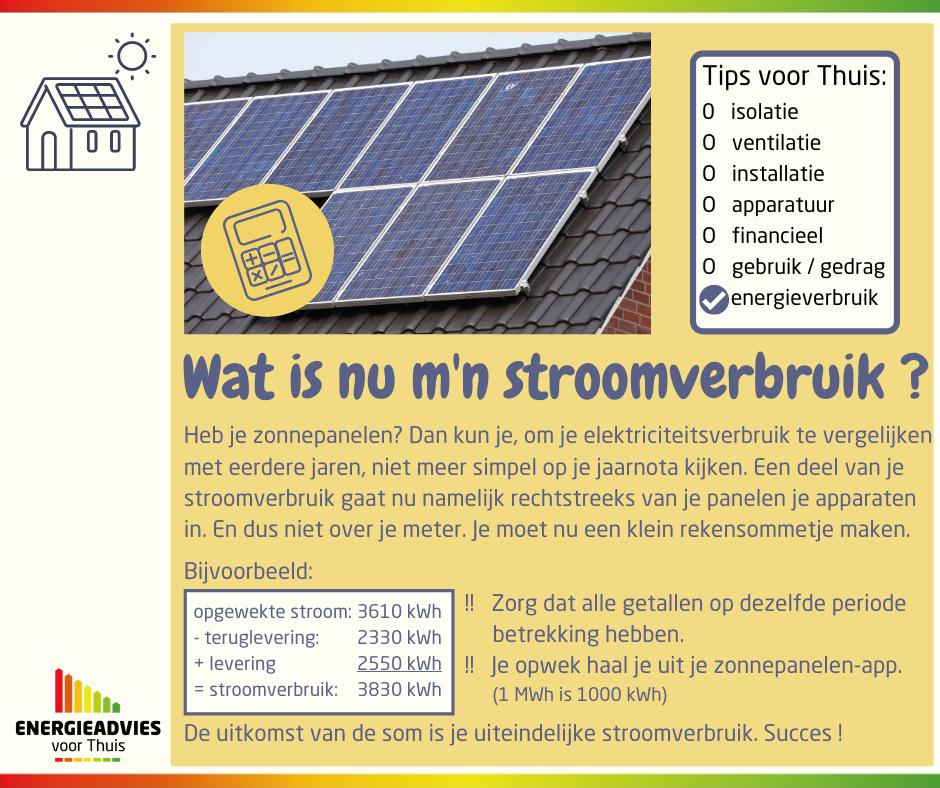 Tip voor Thuis: stroomverbruik berekenen bij zonnepanelen