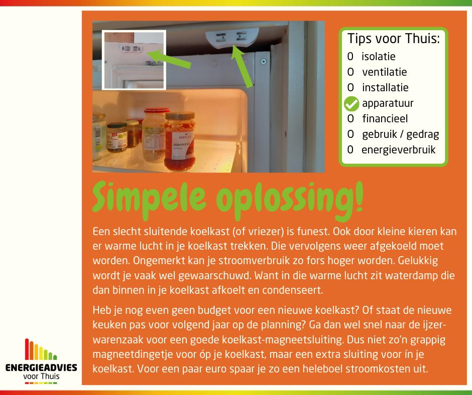 Tip voor Thuis: simpele oplossing voor slecht sluitende koelkast.