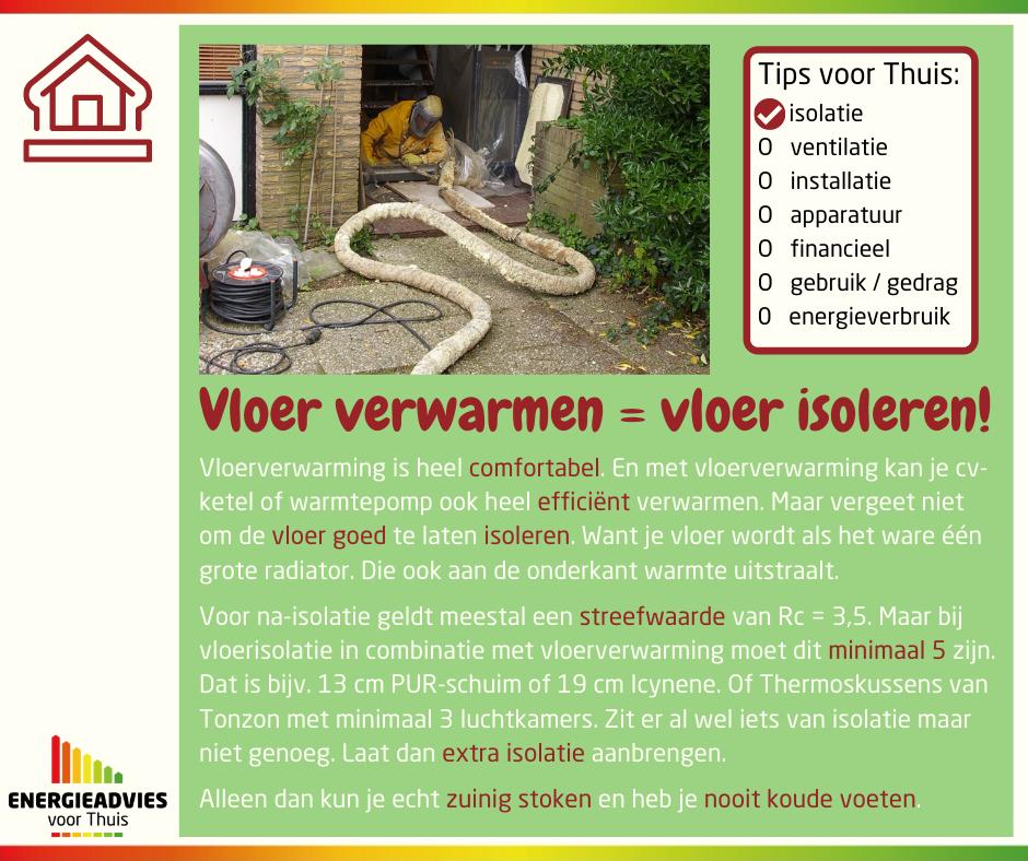 Tip voor Thuis: vloerisolatie bij vloerverwarming