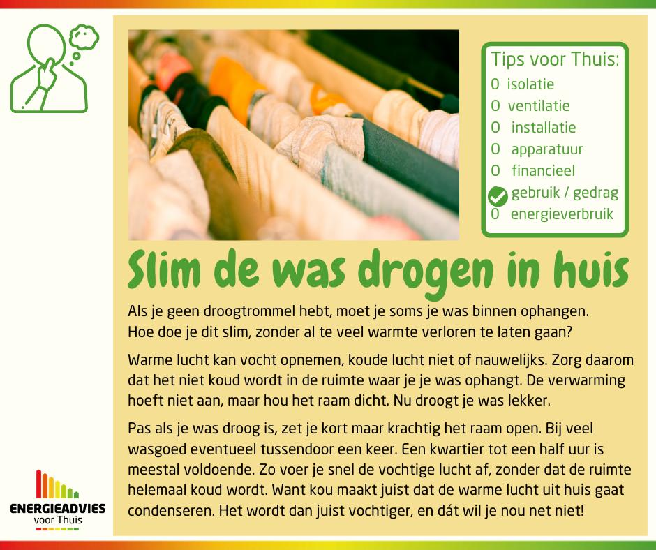 Tip voor Thuis: slim de was drogen in huis